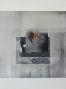 impulsiv II, 80 x 60 cm, Acryl, Kreide auf Leinwand