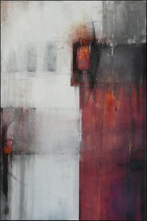 Jetzt aber!, 150 x 100 cm, Acryl, Kreide auf Leinwand