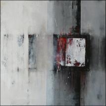 Der kleine Freund, 60 x 60 cm, Acryl, Kreide auf Leinwand