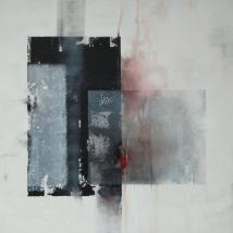 wer weiß wohin?, 100 x 120 cm, Acryl, Kreide auf Leinwand