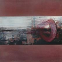 ZeitRaum, 40 x 40 cm, Acryl, Kreide auf Leinwand